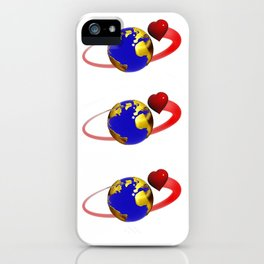 love is all around, #hatetolove iPhone Case