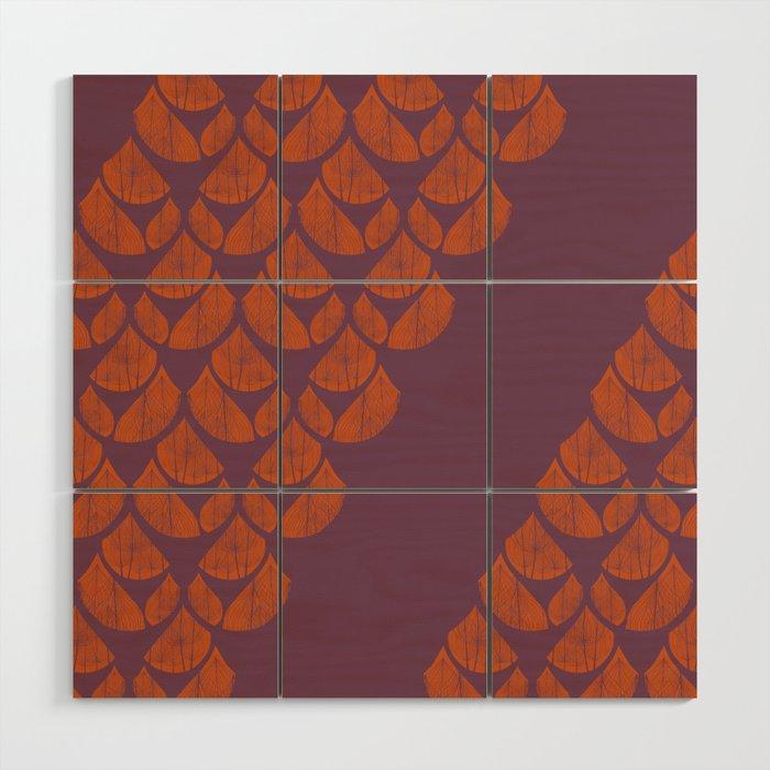 Orange Drops Wood Wall Art