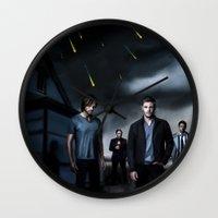 supernatural Wall Clocks featuring Supernatural by Clara J Aira