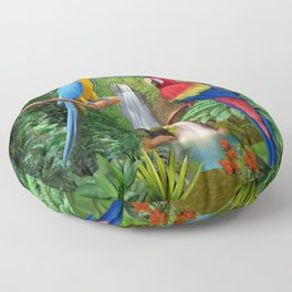 Macaw Tropical Parrots Floor Pillow