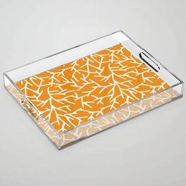 Branches - Orange Acrylic Tray