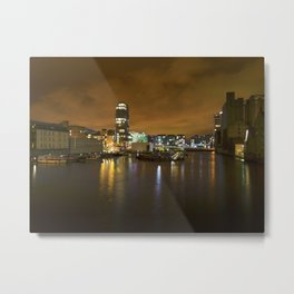 Reflections II - Grand Canal Dock Metal Print