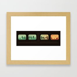 Ground Zero - Zombie Subway Framed Art Print