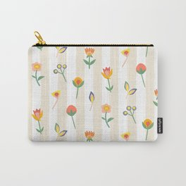 Paper Cut Flowers Carry-All Pouch