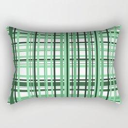 Green white checkered Graphic Design Rectangular Pillow