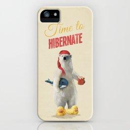 Time to Hibernate iPhone Case