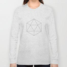 Black & white Icosahedron Long Sleeve T-shirt
