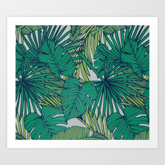 Palm veil Art Print