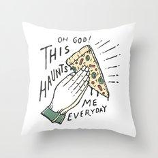 Haunts me Throw Pillow