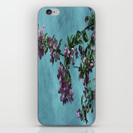 Pink Over Turquoise by CheyAnne Sexton iPhone Skin