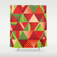 strawberry Shower Curtains featuring strawberry by Gray