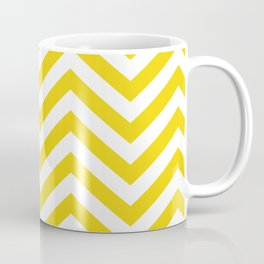 Yellow Chevron Pattern Coffee Mug
