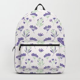 Purple Seed Pods Backpack