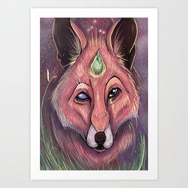 Fox of Wisdom Art Print