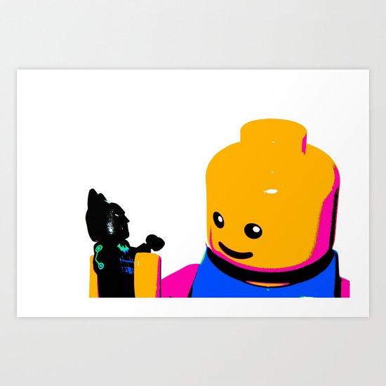 Pop Art Lego Man Art Print