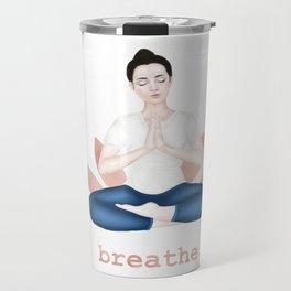 breathe. rose gold Travel Mug