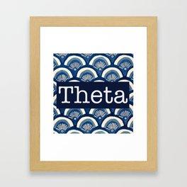 Scalloped Theta Framed Art Print