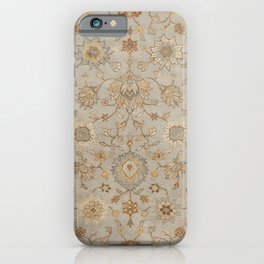 Antique Persian Floral Medallion Vector Painting iPhone Case