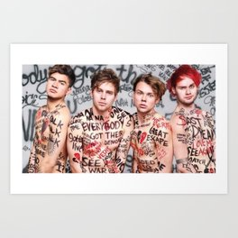 5 Seconds of Summer Marked Cover Art Print