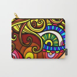 Abstract Doodle Face Carry-All Pouch