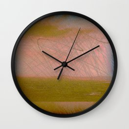 Postcard From The Hill Wall Clock