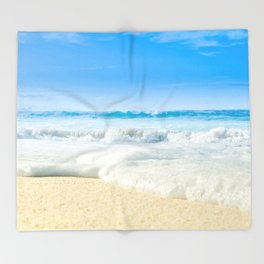 Beach Love Summer Sanctuary Throw Blanket