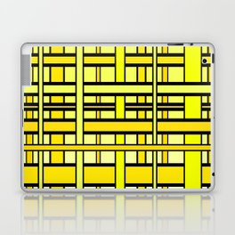 Yellow grid Laptop & iPad Skin