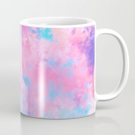 Artsy Girly Pink Blue Abstract Paint Splatter Art Coffee Mug