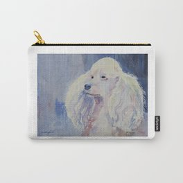 White poodle Carry-All Pouch