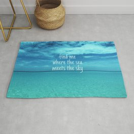 Find me where the sea meets the sky/Varadero beach Rug