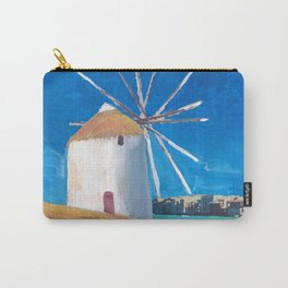 Mykonos Greece Windmill, Sea and Little Venice Carry-All Pouch