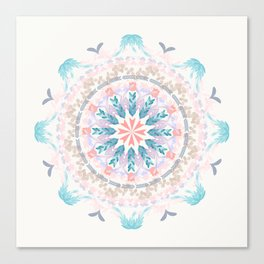 Pastel Goodness Soft Mandala Canvas Print