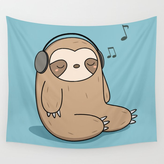 This is a graphic of Obsessed Sloth Drawing Cute