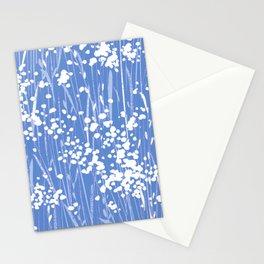stemmy weeds nautical blue Stationery Cards