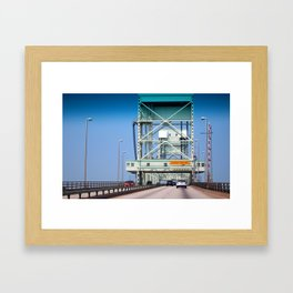Crossing The Bridge Framed Art Print