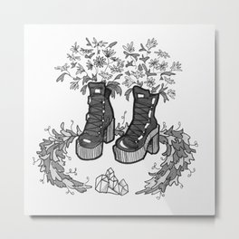 Witch' Boots Metal Print
