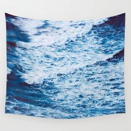 Blue Ocean Waves Wall Tapestry