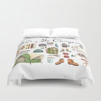 backpack Duvet Covers featuring Let's Go Camping by Brooke Weeber