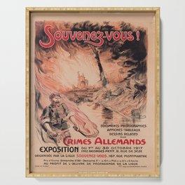 Affiche souvenez - vous!   crimes allemands. 1917  Serving Tray