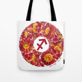 Sagittarius in Petrykivka Style (with artist's signature/date) Tote Bag