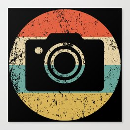 Photographer Vintage Retro Camera Canvas Print