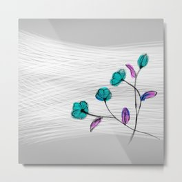 Flower in the wind Metal Print
