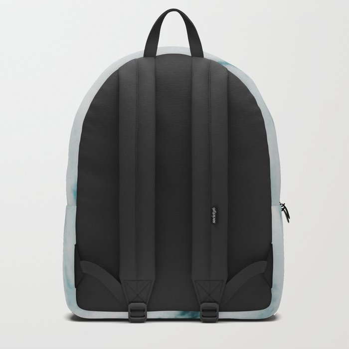 Teal Streaked Marble Backpack