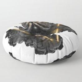 Woman Gold Floor Pillow