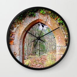 Gate to autumn Wall Clock
