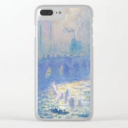 Claude Monet's Waterloo Bridge Clear iPhone Case