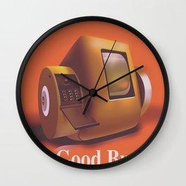 Vintage Videofone ad ( Total Recall 1990 fan art) Green Edition Wall Clock