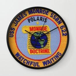 USS JAMES MONROE (SSBN-622) PATCH Wall Clock