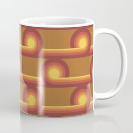 70's Swirls n Whirls in Rust Coffee Mug