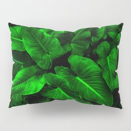 Arum Lilly Leaves Pillow Sham